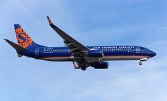 Sun Country Airlines B737-800 N824SY (Johannes_K) Tags: aviation planespotting plane aircraft landing seatac sea ksea seattle tacoma airport boeing b737 cfm56 b738 b737800 sun country airlines n824sy