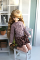 Knits for tiny babes (Nymphodisiac) Tags: azone pure neemo knits knitting obitsu24