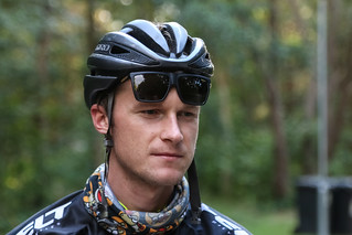 Treniņš ar profesionālo Latvijas šosejas riteņbraucēju Andžu Flaksi