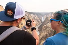 Taking a photo of Lower Falls from Artist Point (YellowstoneNPS) Tags: artistpoint grandcanyonoftheyellowstone instameet lowerfalls ynp yellowstone yellowstonenationalpark yellowstoneriver people photography summer