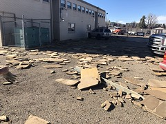 April 17, 2018 - Strong winds cause damage.  (North Metro Fire)
