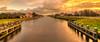 Noordhollandsch Kanaal cutting Schoorldam in half. (Alex-de-Haas) Tags: 11mm d850 dutch hdr holland irix nederland nederlands netherlands nikon noordholland noordhollandschkanaal schoorldam avond beautiful beauty canal cloud clouds evening hemel kanaal landscape landschap longexposure lucht mooi skies sky sundown sunset water winter wolk wolken zonsondergang