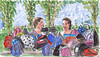Schoolreisje / School trip (h e r m a n) Tags: herman illustratie tekening drawing illustration dagboek diary journal mijnleven mylife schoolreisje schooltrip moeders mothers tassen bags rugzakken backpacks zon sun plaswijckpark