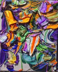 "#josephallenart ""Bloodblooms Gobbling Doubloons"" April 2018 10""x8"" #oiloncanvas #abstractpainting (josephallenart) Tags: oiloncanvas josephallenart abstractpainting"