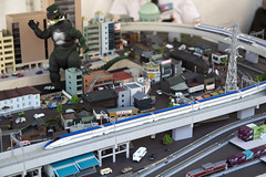 Sakura Matsuri - JR Train Layout (dckellyphoto) Tags: trains jr model modeltrains modelrailroad 2018 cherryblossom cherryblossomfestival washingtondc washington districtofcolumbia sakuramatsuri godzilla highspeedrail hsr