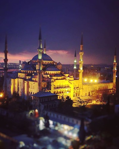 (#sunset #droneview)   The Blue Mosque (Called Sultanahmet Camii in Turkish) was built by Sedefkar Mehmet Aga in the sultan 1. Ahmet's time between (1609-1616) years. It is located on the site of the Great Palace of Byzantium, on the southeastern side of