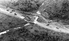 Vietnam War Bridge Destruction (ghostanddark2003) Tags: aerial military overhead southeast asia transport water vnm