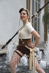 """Pinup Rey"" (dckellyphoto) Tags: pinuprey rey cosplay reycosplay reydotham starwars kennedycenter washingtondc districtofcolumbia woman women female model photoshoot canon canon1300d fishnets stockings heels 1940s pinup lipstick"
