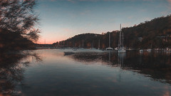 Winter Evening on McCarrs Creek (Dave Whiteman - AU) Tags: australia pittwater seascape bayview landscape sunset mccarrscreek texture
