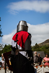 DSC_0005-1 (Coed Celyn Photography) Tags: knights medieval reenactment re enactment larp live living history armour armor chainmail plate helmet sword shield axe mace weapons weapon castle abbey historical battle fight tournament tabard