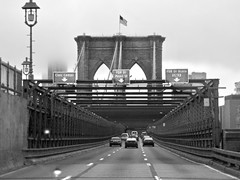 brooklyn bridge NYC ...  watch: (Shein Die) Tags: brooklyn brooklynbridge nyc newyorkcity newyork bridge blackandwhite bw monochrome rain