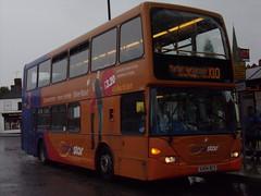 Stagecoach Midlands East Lancs Omnidekka (Scania N94UD) 15401 KX04 RCV (Alex S. Transport Photography) Tags: bus outdoor road vehicle stagecoach stagecoachmidlandred stagecoachmidlands eastlancs eastlancsomnidekka elc scania n94ud route3branding off route unusual corbystar routex10 15401 kx04rcv