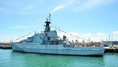 HMS Mersey P283 Dressed Overall (davids pix) Tags: hms mersey p283 dressed overall flags offshore patrol vessel fisheries protection portsmouth royal navy dockyard 2018 02062018