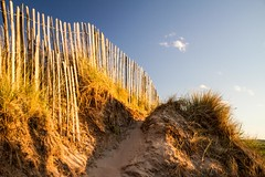 Day at the beach (jamesdewar99) Tags: summer beach sky light shadow fence blue sand coast flickr