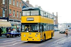 Stevensons, Uttoxeter: 36 (NKK243F) in High Street, Burton on Trent (Mega Anorak) Tags: bus leyland atlantean pdr11 massey stevensonsuttoxeter maidstonecorporation burtonontrent