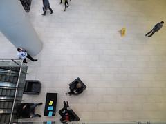 Convention Centre, Toronto, Ontario, Canada (duaneschermerhorn) Tags: overhead people floor candid pillar column man woman