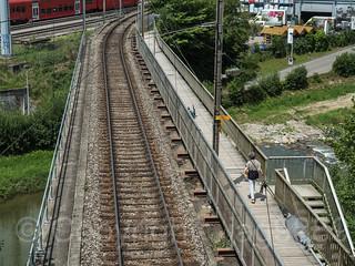 SIH450 Sihltalbahn Railroad Bridge over the Sihl River, Gattikon - Langnau am Albis, Canton of Zurich, Switzerland