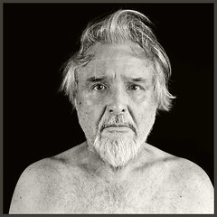 Me #19 2018; Topless in the Sixties (hamsiksa) Tags: man male old aged oldman geezer shirtless hairy topless studio studioportrait selfportrait portrait blackwhite