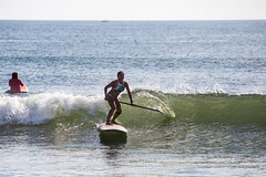Paddle Happy (haddartist) Tags: ocean oceanside oceanfront coast coastal surf surfer surfing woman paddle paddleboarder paddleboarding sup standuppaddle wave swell break breaking lip spray glassy reflection morning light sunny sunshine color colorful virginiabeach virginia