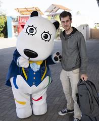 Yomiuri Land: Erik and the Land Dog Mascot (elveatles) Tags: japan tokyo kawasaki tama yomiuriland yomiuri landdog
