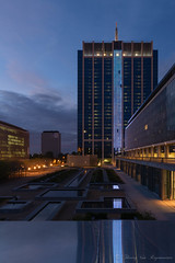 Tour des Finances ( Bruxelles ) (vanregemoorter) Tags: city cityscape bluehour brussel bruxelles night light reflection ville gratteciel ciel architecture bâtiment