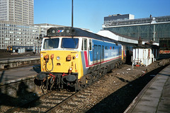 50034 'Furious' and 50019 'Ramillies' stable at Waterloo. 50034 later worked the 11:10 to Exeter St. Davids. (jezdgould) Tags: englishelectric class50 50034 50019 networksoutheast waterloo d434 d419 hoover london furious ramillies exeter