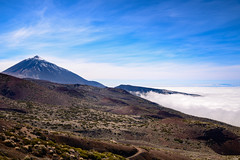 Cloudy shore (Rico the noob) Tags: dof d850 landscape nature mountains outdoor 2470mmf28 snow trees tree published forest stones clouds sky 2018 teneriffa tenerife 2470mm mountain