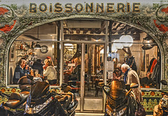 a night in Paris (albyn.davis) Tags: paris france europe restaurant people window colors golden brown light street painterly travel