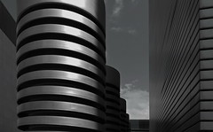 - - stripes - - (christikren) Tags: austria architecture blackwhite building christikren facade lines linescurves monochrome noiretblanc panasonic photography perspective sw stpölten landhaus town