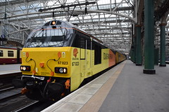 67023 @ Glasgow Central (Huw Rossiter) Tags: colasrail 67 67023 67027 testtrain networkrail