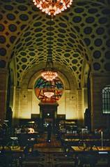 Detroit Michigan -  Detroit Main Library - Interior (Onasill ~ Bill Badzo) Tags: cuyahogacounty main public library interior detroit mi michigan woodward largest uofm university nrhp landmark historic murals reading room light fixtures culutral center district architect architecture style beaux arts cass gilbert marble vermont jr unitedstates usa attractionsite tours walking onasill old vintage photo