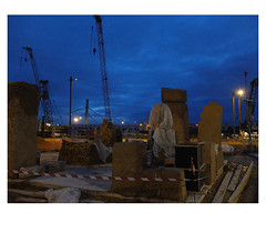 In the mood for night (michelle@c) Tags: urban suburban urbanscape city cityscape industrial site worksite crane models clay pebles straw night district ivrysurseine paris xiii 2018 michellecourteau