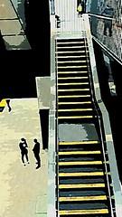 (sftrajan) Tags: station stairs cartoon civiccenterstation sanfrancisco bart transit muni sanfranciscomuni cartoonized 2018 cartoonphotosoftware