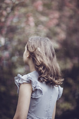 (Rebecca812) Tags: girl wistful beauty timeless breeze wind hair blowing ruffledsleeve brownhair flowers canon people rearview delicate pretty idyllic portrait fineart art photography beautiful rebeccanelson rebecca812
