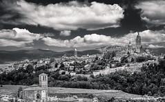 Segovia bw (Ignacio Ferre) Tags: segovia comunidaddecastillayleón españa spain ciudad city village landscape paisaje blancoynegro blackwhite monocromo monocromático monochrome nikon clouds nubes wb blackandwhite