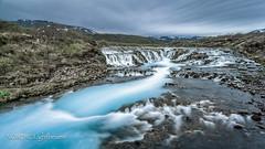 Brúarfoss - Blue mystery (NORDIC Lightbeams) Tags: samyang12mmf20 island manuellesobjektiv wasserfall langzeitbelichtung brúárfoss iceland bulbexposure longtimeexposure manuallens primelens waterfall suðurland is
