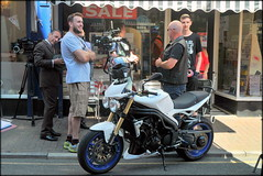 Filming Perfectly Frank (* RICHARD M (7.5 MILLION VIEWS)) Tags: perfectlyfrank likerufo onlocation filmmaking filmmakers filmcrew actor moviedirector filmactor davidknopov filmcameras moviecameras motorbike motorcycle biker motorcyclist street candid smiles beards bearded whiskers bewhiskered fun happy happiness shops windows glass shopwindows wesleystreet sunnysouthport southport sefton merseyside merseysiders showbiz filmdirector talent films movies showbusiness