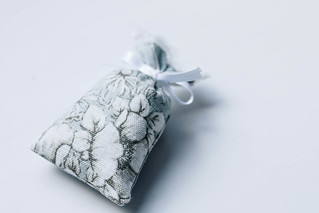 Aroma floral bag on white background