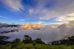 灑落_DSC5756N (何鳳娟) Tags: 黃金雲海 藍天白雲 山岳 夜景 風景 合歡山 昆陽 雲海 夕陽