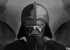 Darth Vader Finale (Dusty SuperAngel) Tags: star wars digital painting sketchbook pro darth vader maul