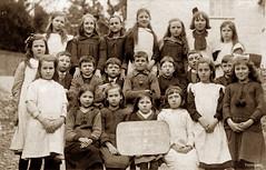 Cwmpadarn School 1921 (footstepsphotos) Tags: llanbadarn school ceredigion 1921 children group boy girl wales old vintage photograph past historic cwmpadarn
