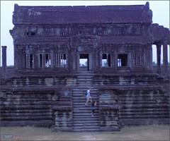 Angkor Wat North Library 20180202_062918 DSCN2365 (CanadaGood) Tags: asia seasia asean cambodia siemreap angkor angkorwat temple people person building architecture archaeology canadagood 2018 thisdecade color colour morning buddhist hindu khmer