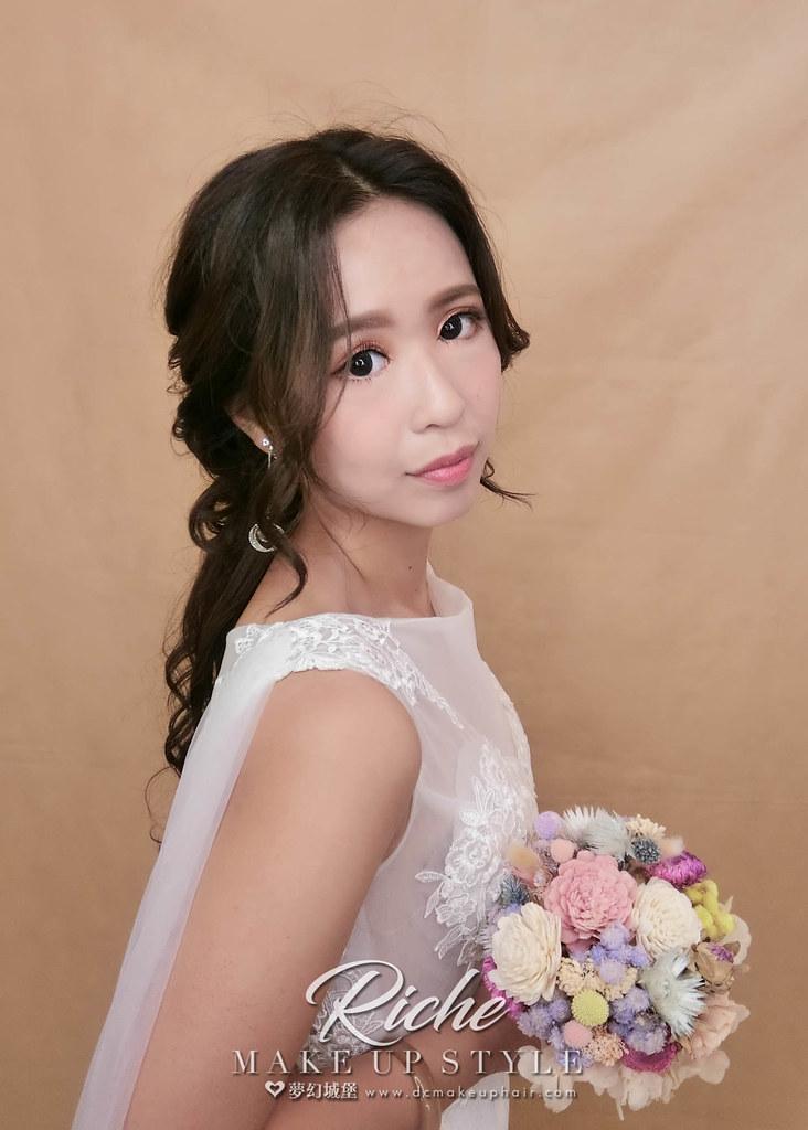 【新秘RICHE】新娘造型創作 / 短髮接長造型