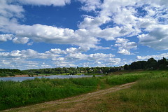 Pastoral scenery of Tarusa (МирославСтаменов) Tags: russia tarusa coast cloudscape meadow oka river summer