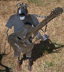 Heavy Metal Guitarist (Scott 97006) Tags: art metal guitar player sculpture welded