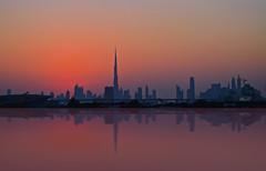 Sunset Dubai skyline (maxiniq.vanhaeren) Tags: burj khalifa deira the creek sunset skyline dubai dusk city silhouette
