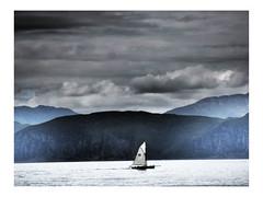 Just Cruisin' (Robert-Jan van Lotringen) Tags: scotland uk seil island coast seascape sailing sailboat easdale clouds drama blue hues wind scenery nature sail