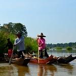 Longtailboot auf dem Mekong, Thailand