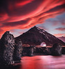 Once upon a time... (Ramiro Torrents) Tags: dramaticsky dawn twilight moodysky sundown house home iceland europe clouds sunset sunrise pink illuminated basalt reflection reflections cloudscape mountain glacier beautiful beautyinnature shore beach sea north serenity tranquility rural volcanic