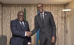 President Kagame meets with President Nana Akufo-Addo of Ghana ahead of the Commonwealth Heads of Government Meeting (CHOGM) | London, 17 April 2018 (Paul Kagame) Tags: kagame nana akufoaddo rwanda ghana chogm justin trudeau canada commonwealth uk